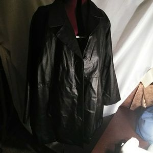 Long leather coat 2X
